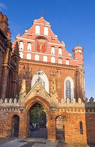 St. Anne's Church and Bernardine Monastery, Vilnius, Lithuania, Europe