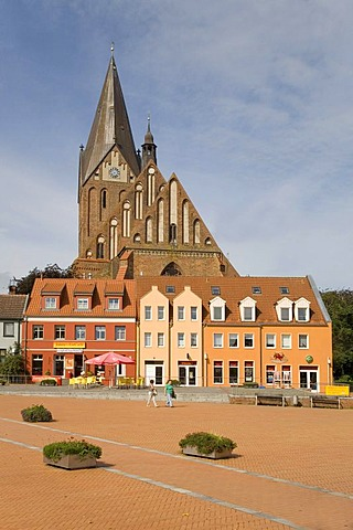 St Marien, St Mary's Church, market square, Vinetastadt Barth, Zingst, Mecklenburg-Western Pomerania, Germany, Europe