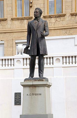 Monument to Alexander Pushkin, Bakhchisaray, Crimea, Ukraine, Eastern Europe