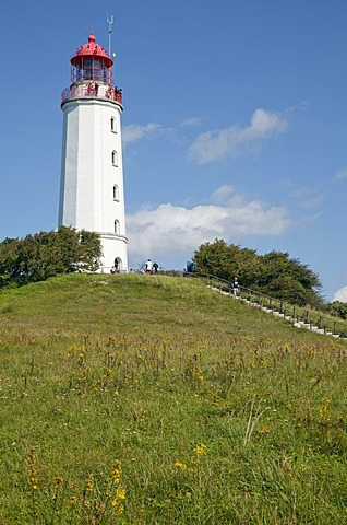Dornbusch lighthouse on Schluckswieck Hill, Hiddensee, Mecklenburg-Vorpommern, Germany, Europe