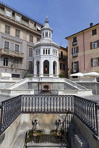 La Source Bollente thermal spring, Acqui Terme, Monferrato, Piemont, Italy, Europe