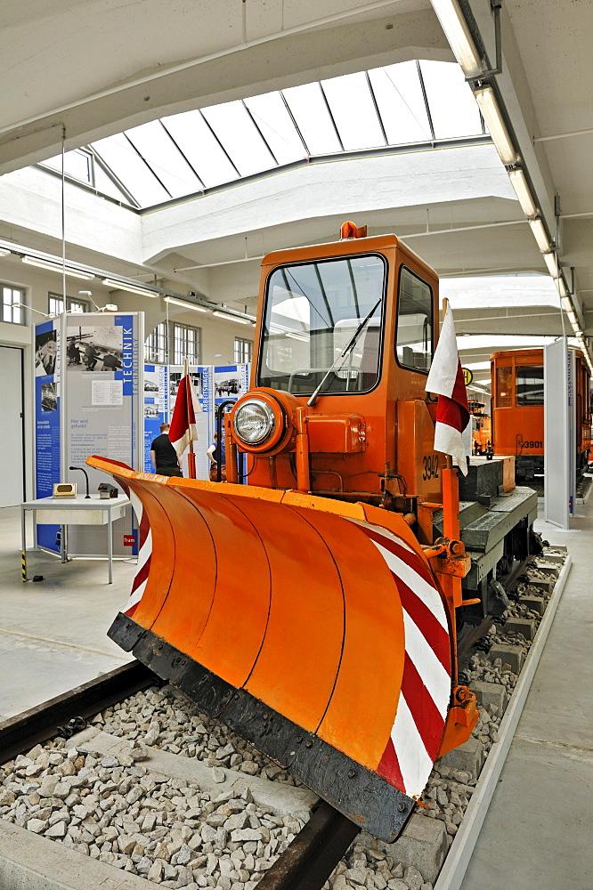 Old tram snow plow at the MVG-Museum, Muenchner Verkehrsgesellschaft, MVG, Munich Public Transportation Company, Munich, Bavaria, Germany, Europe