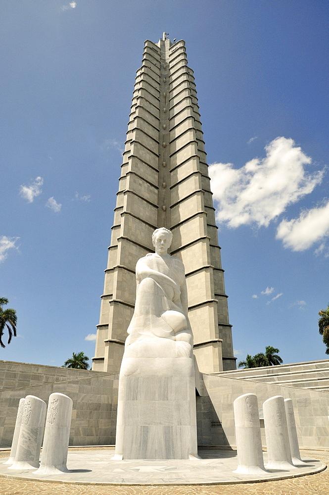 Monumento Jose Marti, monument to Jose Marti, Cuban writer and national hero, 105m, Plaza de la Revolucion, Havana, Cuba, Caribbean