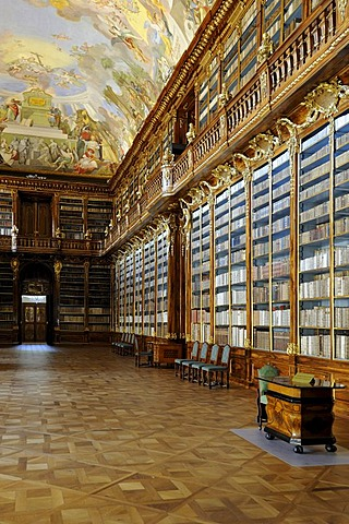 Philosophical Hall of the library, Strahov Abbey, Czech Republic, Europe