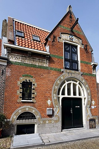 Azijnfabriek, former vinegar factory in the Art Nouveau style, Pijpstraat, Middelburg, Walcheren, Zeeland, Netherlands, Europe