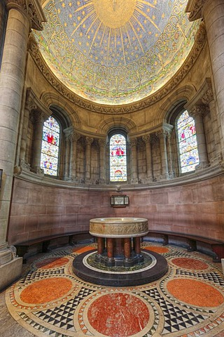 Baptistery with mosaic The Creation, St. Anne's Cathedral, Belfast, Northern Ireland, Ireland, Great Britain, Europe
