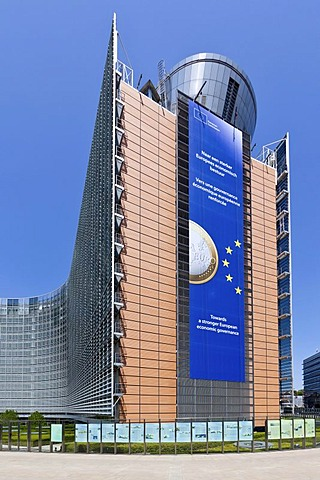 European Commission, the Berlaymont building, Brussels, Belgium, Europe, PublicGround