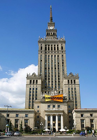 Palace of Culture and Science, Warsaw, Poland, Europe