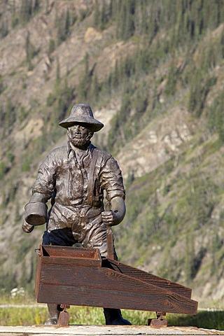 Miner's monument, Klondike Gold Rush, Dawson City, Yukon Territory, Canada