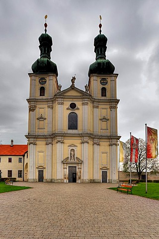 Pilgrimage church, Basilica of the Nativity of Mary, in Frauenkirchen, Burgenland region, Austria, Europe