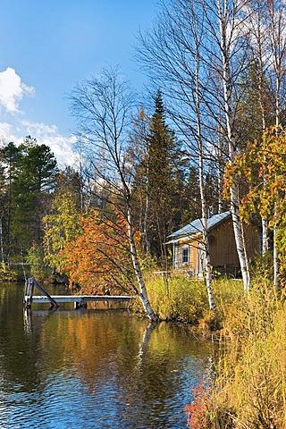 Cabin by Kallunki lake, Finland, Europe