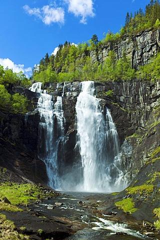 Granvin waterfall, Hardanger, Norway, Europe