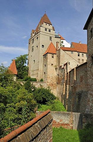 Exterior view, Burg Trausnitz Castle, Landshut, Lower Bavaria, Bavaria, Germany, Europe