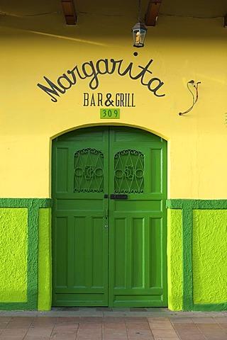 Entrance to the restaurant Margarita, Granada, Nicaragua, Central America
