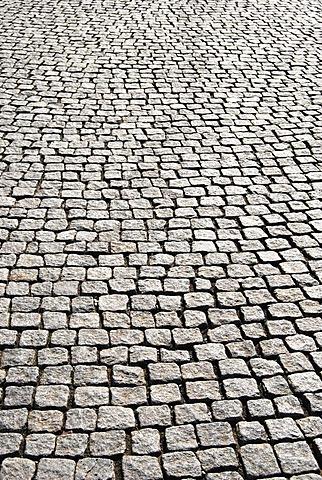 Setts paving stones, Burgplatz square, historic town centre, Duesseldorf, North Rhine-Westphalia, Germany, Europe