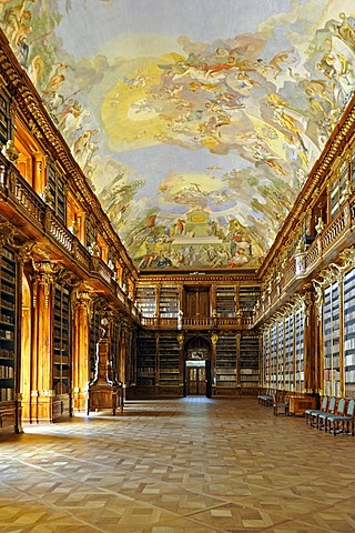 Philosophical Hall in the library of the Strahov Monastery, Prague, Czech Republic, Europe