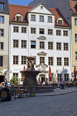 Zum Arabischen Coffe Baum, cafe and coffee museum, Leipzig, Saxony, Germany, Europe