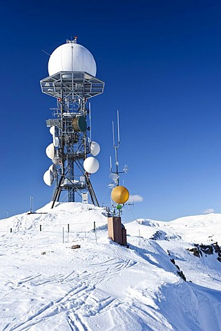 Weather station on Mt. Rittnerhorn above the Renon, Bolzano Area, South Tyrol, Italy, Europe