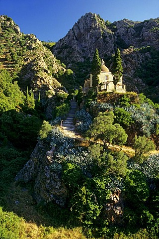 Madonna di Montserrat pilgrimage church, hill, island of Elba, Tuscany, Italy, Europe