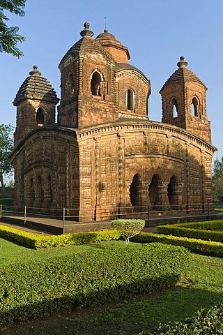 Pancha Ratna terracotta temple of Shyam Rai, Bishnupur, Bankura district, West Bengal, India