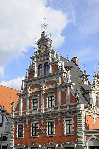 The House of Blackheads, Ratslaukums square, Riga, historic district, Latvia, Baltic states, Northern Europe