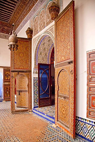 Ben Youssef Madrasa, an Islamic college, Medina, historic district, UNESCO World Heritage site, Marrakech, Morocco, Africa