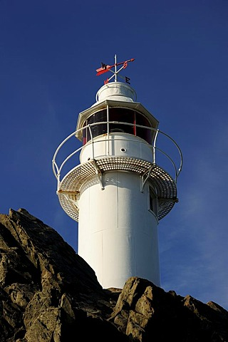 Lighthouse, Lobster Cove Head, Rocky Harbour, Newfoundland, Canada, North America