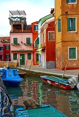 Colourful houses, Burano, Venice, Italy, Europa