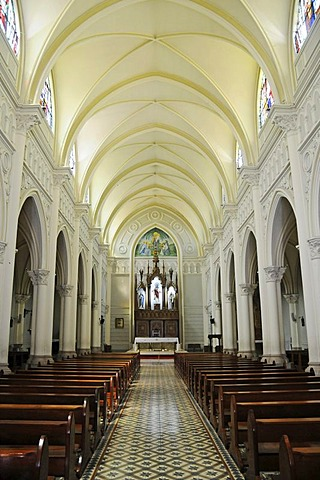 Columns and vaulted ceiling, Antofagasta Cathedral, Antofagasta, Norte Grande region, Northern Chile, Chile, South America