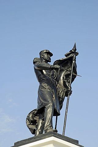 Monument to national war hero Captain Arturo Prat Chacon, Iquique, Norte Grande region, Northern Chile, Chile, South America