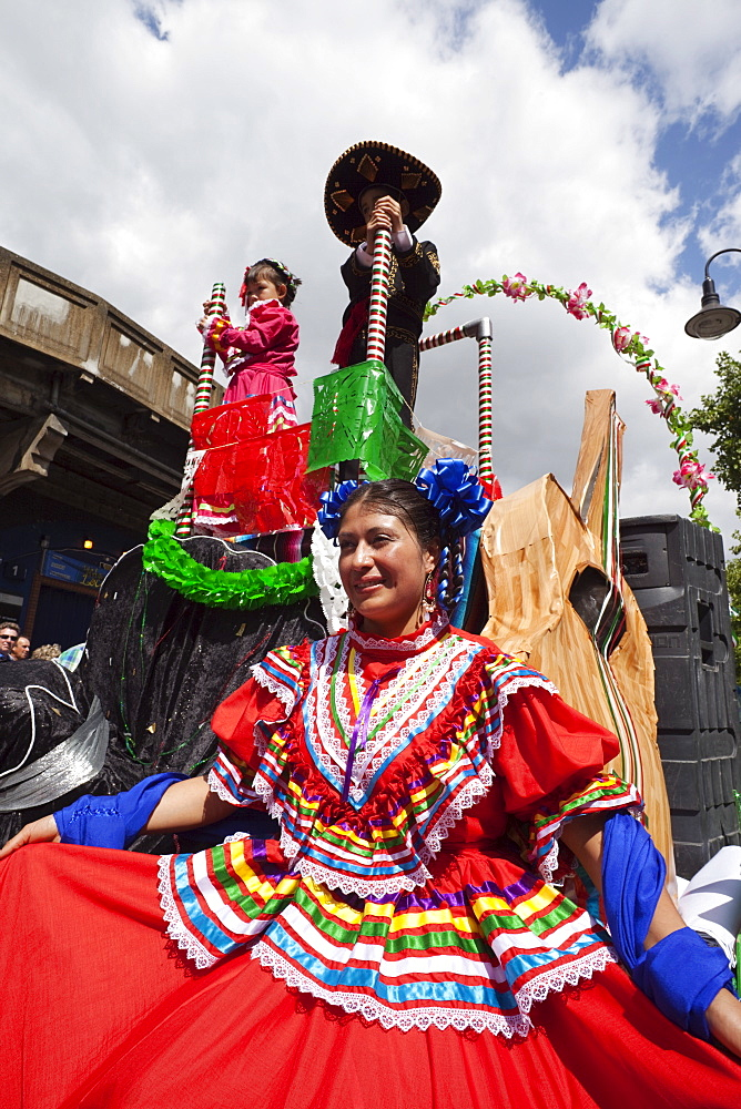 Participant in the Carnaval Del Pueblo Festival, Europes largest Latin Street Festival, Southwark, England, United Kingdom, Europe