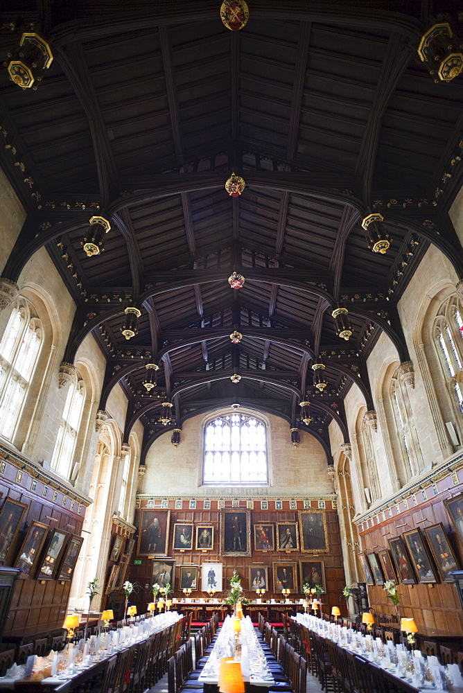 The Dining Hall dating from 1529, Christ Church College, Oxford, Oxfordshire, England, United Kingdom, Europe