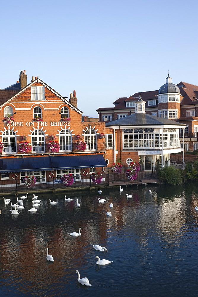 River Thames and riverfront, Eton, Berkshire, England, United Kingdom, Europe
