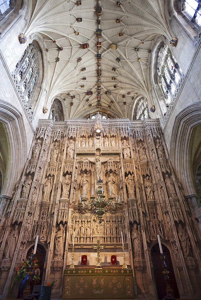 Detail of the Quire, Winchester Cathedral, Winchester, Hampshire, England, United Kingdom, Europe
