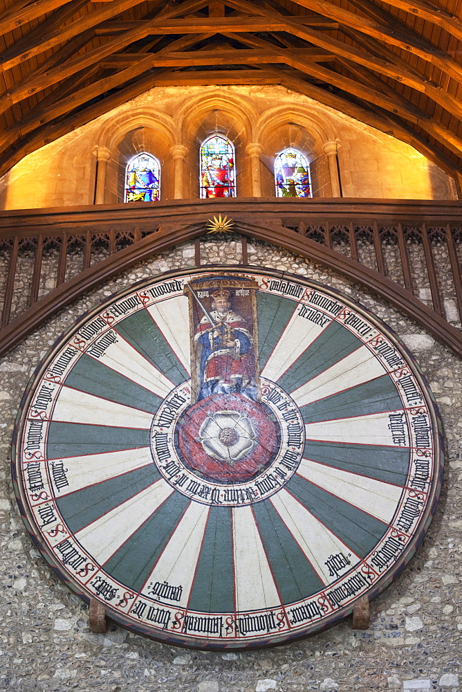 The Arthurian Round Table, The Great Hall, Winchester, Hampshire, England, United Kingdom, Europe
