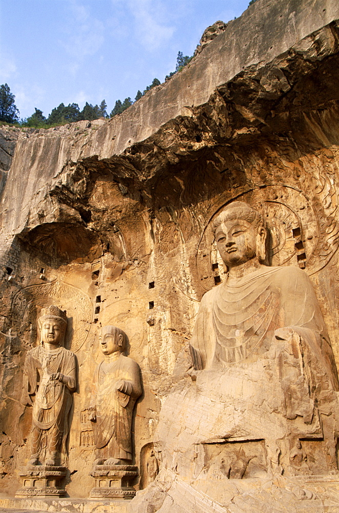 Ancestor Worshipping Temple dating from the Tang Dynasty, Longmen Buddhist Caves, UNESCO World Heritage Site, Luoyang, Henan Province, China, Asia