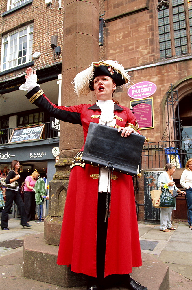 Town Crier, Chester, Cheshire, England, United Kingdom, Europe