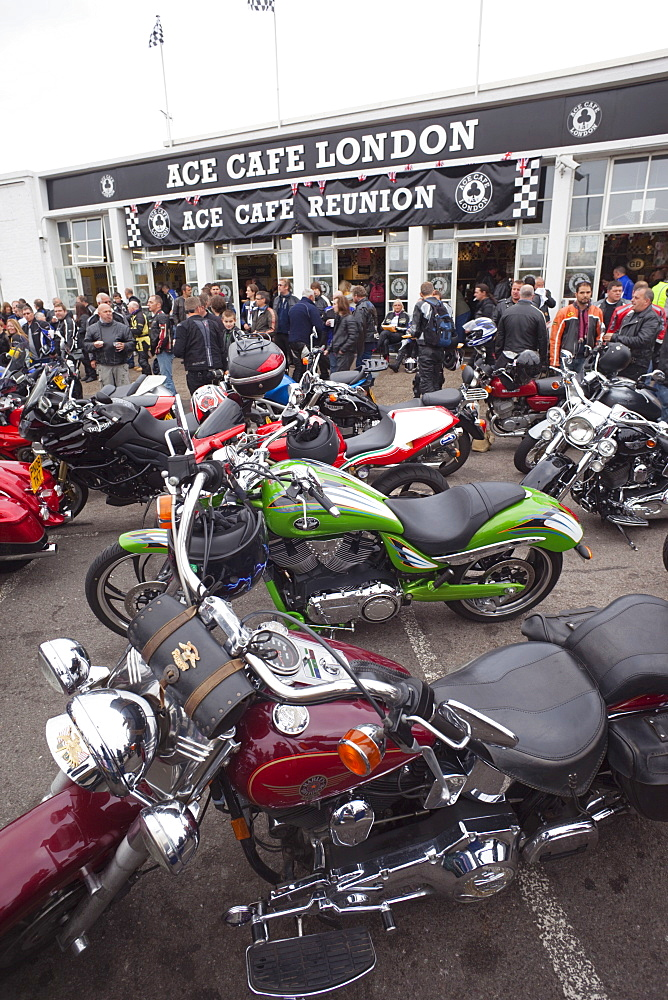 Reunion Day at the Ace Cafe, London, England, United Kingdom, Europe