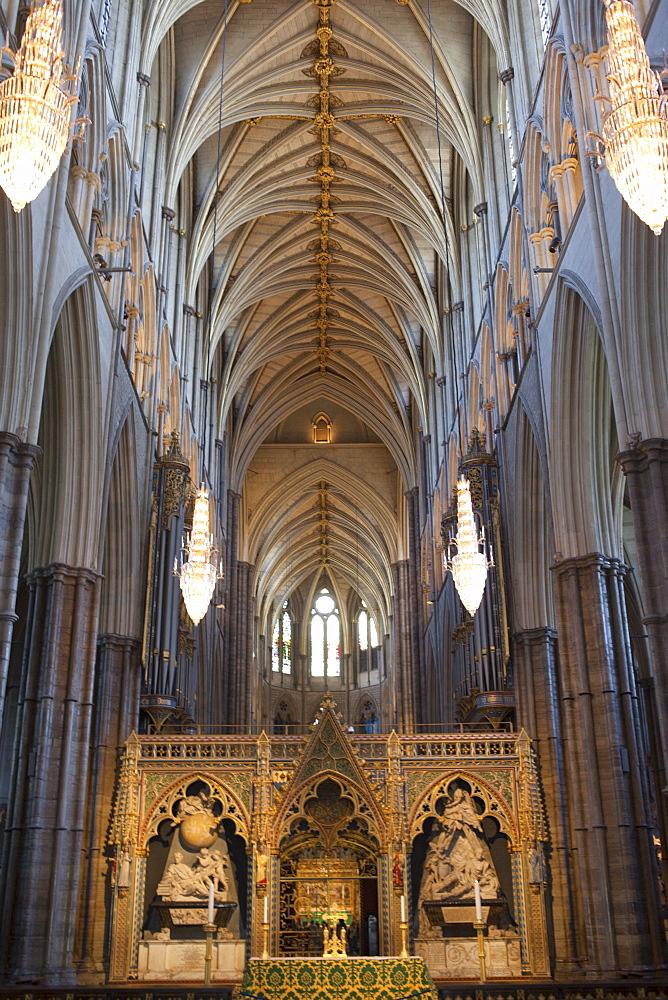 Interior, Westminster Abbey, London, England, United Kingdom, Europe