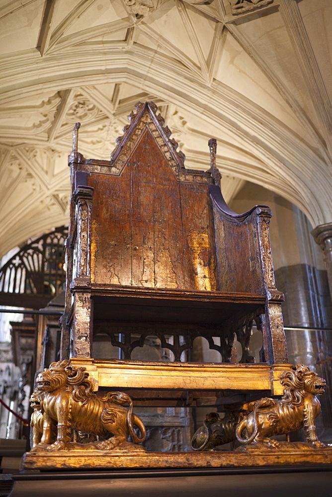 The Coronation Chair, Westminster Abbey, London, England, United Kingdom, Europe