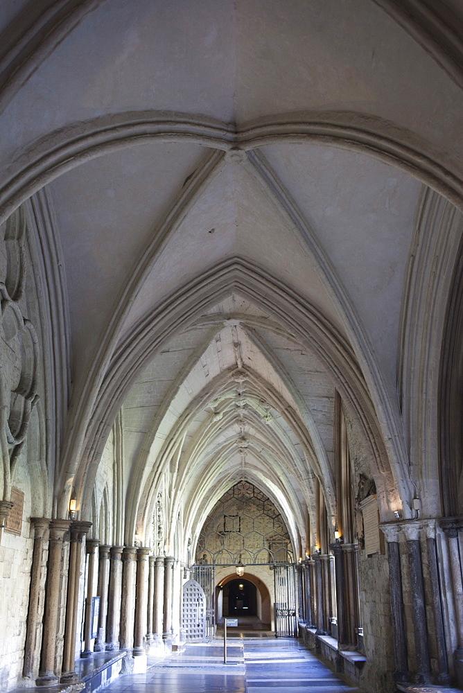 The Cloisters, Westminster Abbey, London, England, United Kingdom, Europe
