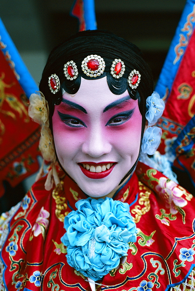 Portrait of Chinese Opera (Beijing Opera) actor dressed in costume, Beijing, China, Asia - 834-1755
