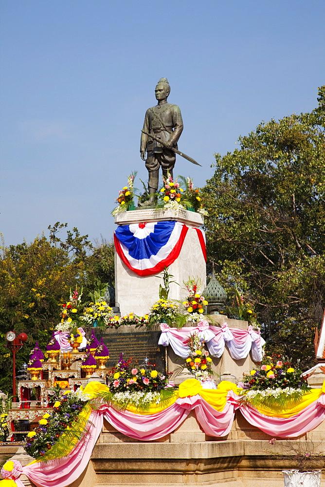King Uthong Monument, Ayutthaya Historical Park, Ayutthaya, Thailand, Southeast Asia, Asia