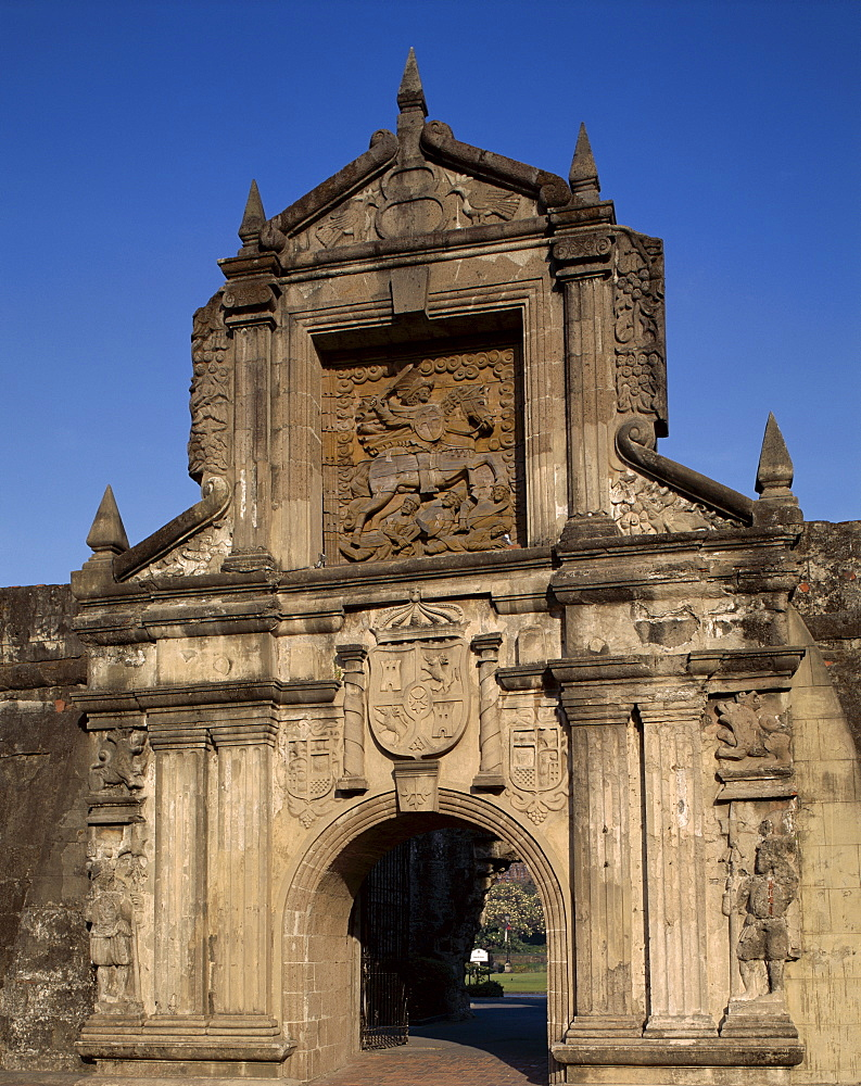 Fort Santiago Gate, Intramuros, Manilla, Philippines, Southeast Asia, Asia