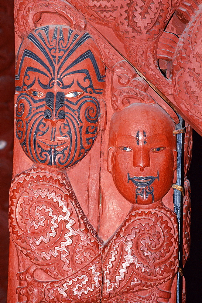 Maori carving, Auckland Museum, Auckland, North Island, New Zealand, Pacific