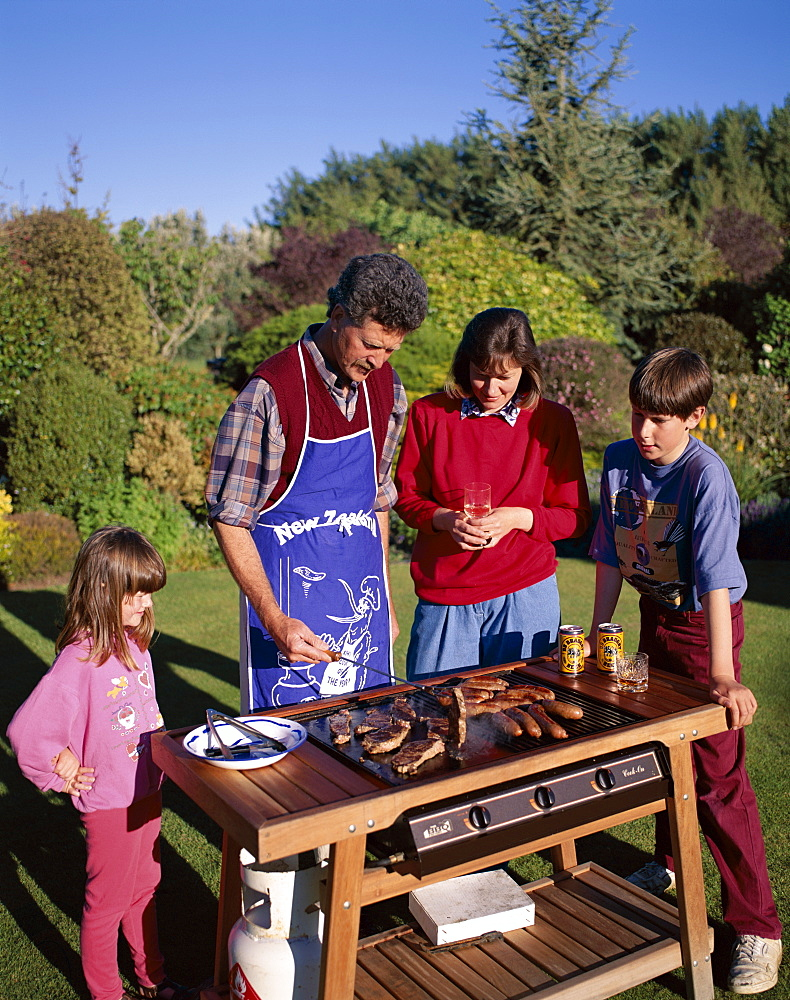 Family Barbecue (BBQ), North Island, New Zealand, Pacific