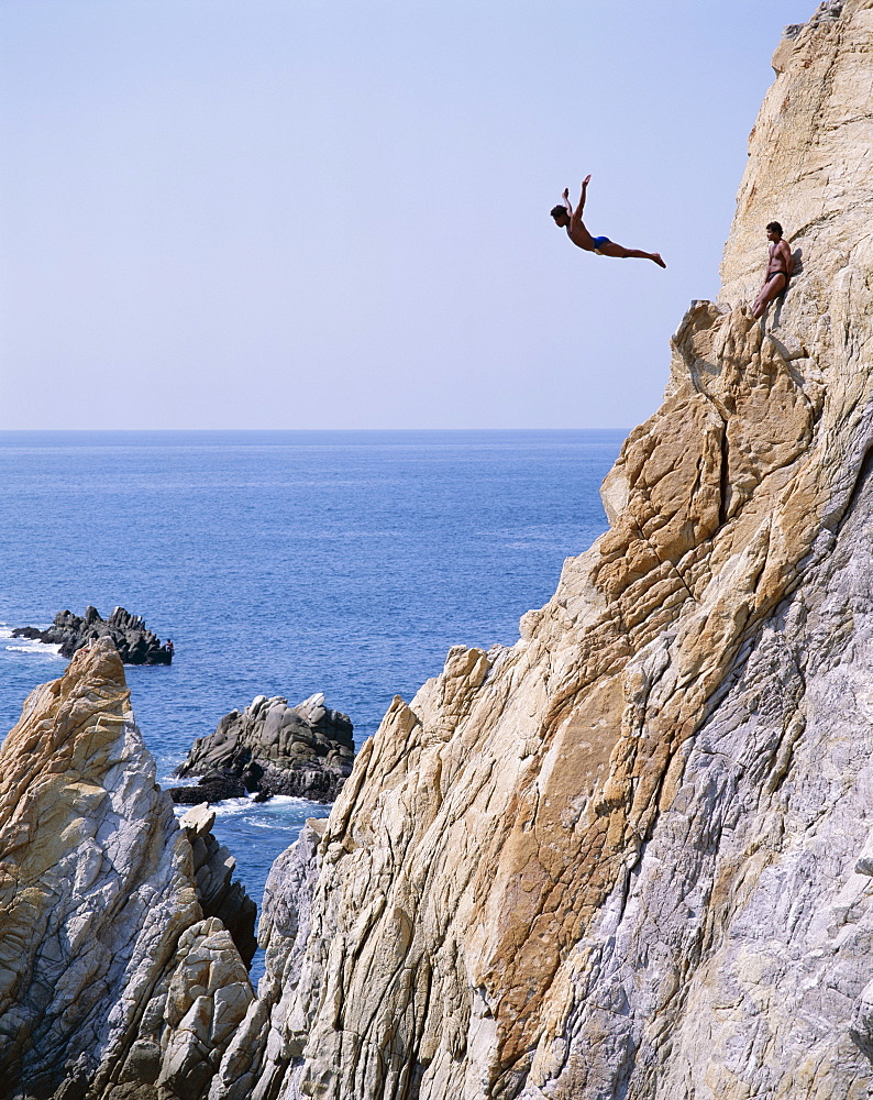 Cliff diver, La Quebrada, Acapulco, Mexico, North America