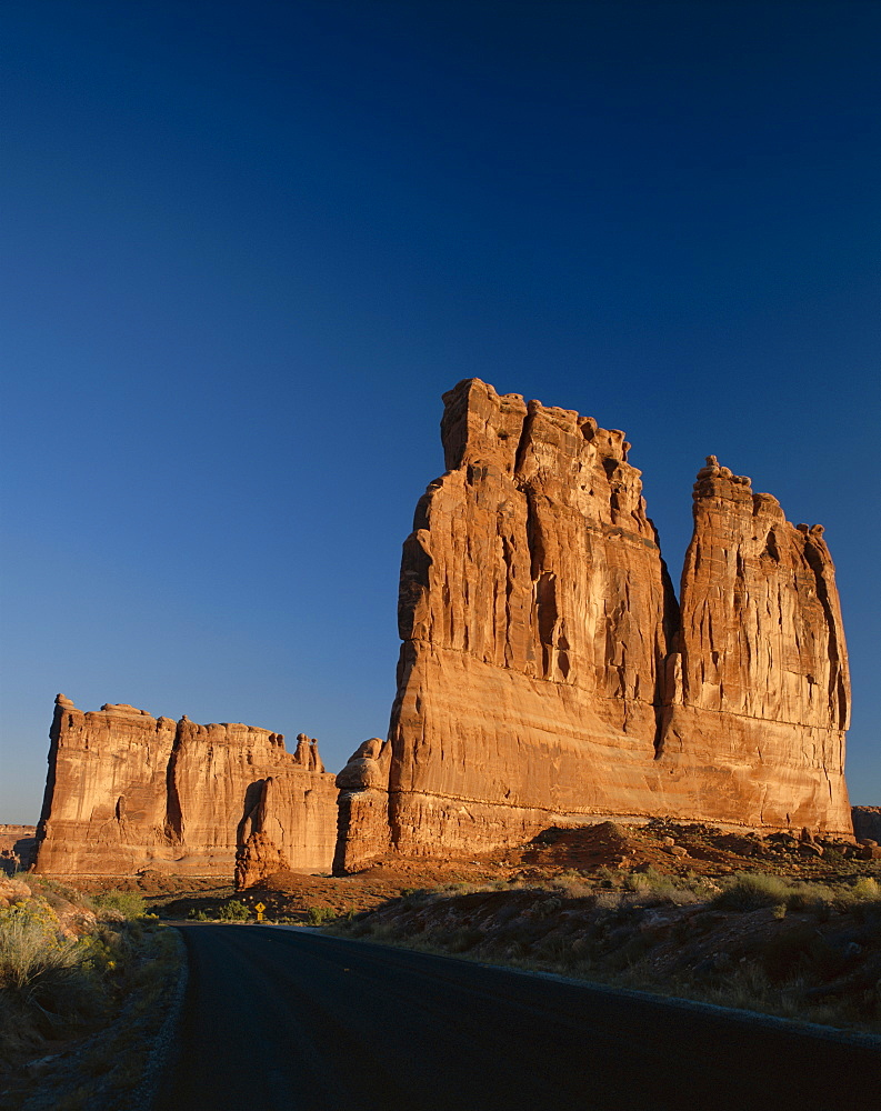 Courthouse Towers, Arches National Park, Utah, United States of America, North America
