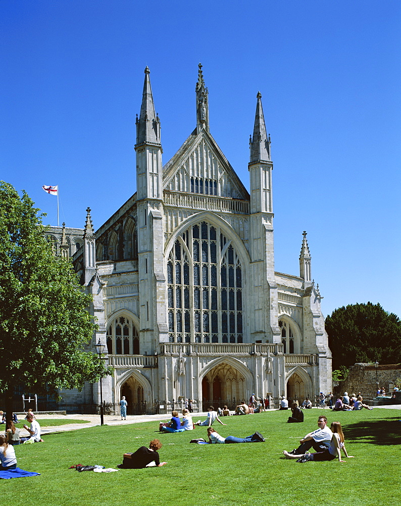 Winchester Cathedral, Winchester, Hampshire, England, United Kingdom, Europe