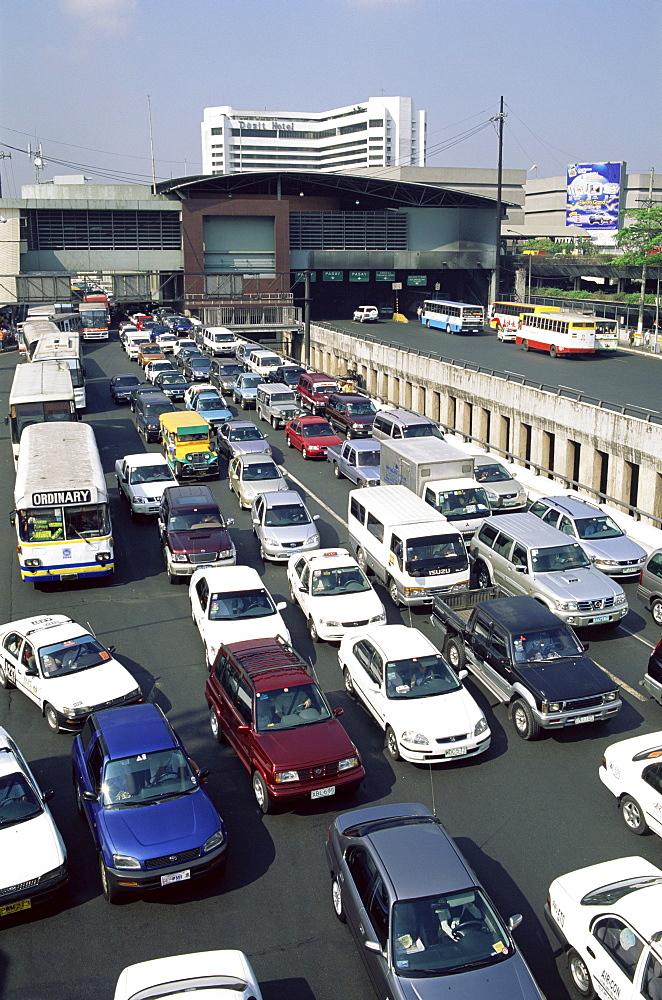 Typical traffic jam, Manila, Philippines, Southeast Asia, Asia